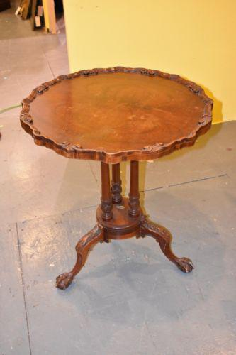 Antique Ball U0026 Claw Foot Carved Table For Sale   Image 6 ...