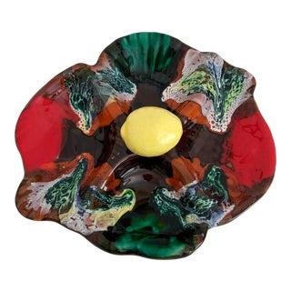 Midcentury German Trompe L Oeil Platter For Sale