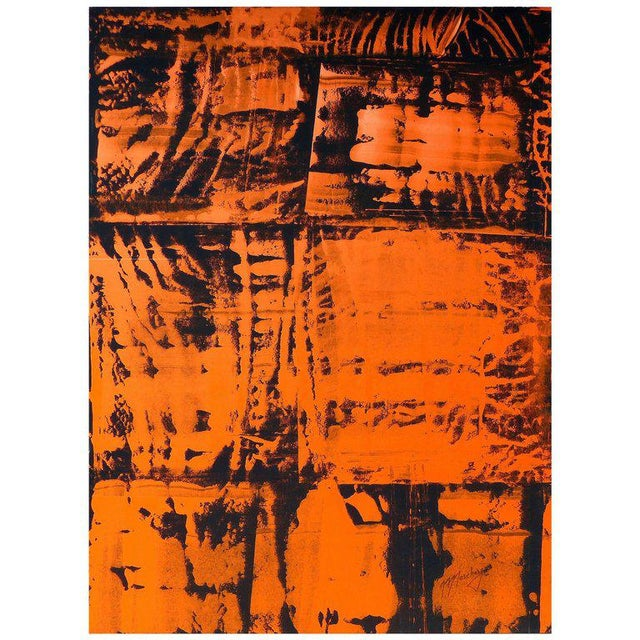Orange Overscale Abstract Painting by Brazilian Artist Norberto Noschang For Sale - Image 8 of 8