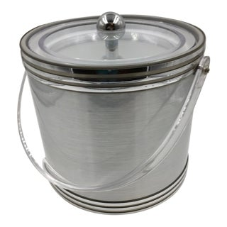 Vintage Georges Briard Silver Ice Bucket For Sale