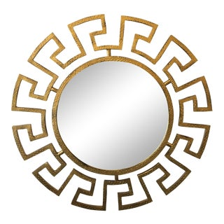 Gold Greek Key Wall Mirror For Sale