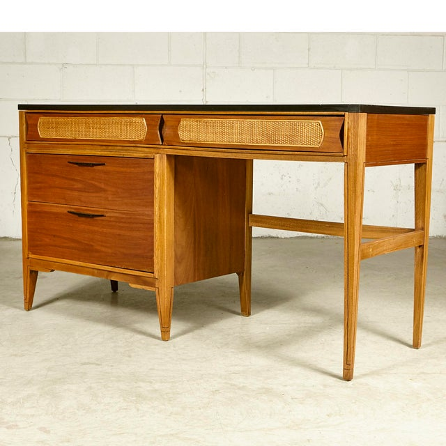 Kent Coffey 1960s Kent Coffey Walnut Tempo Desk For Sale - Image 4 of 9
