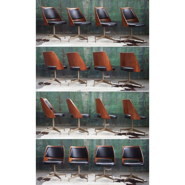 "Black 1960s Mid Century ""Orange Slice"" Dining Set - 5 Pieces For Sale - Image 8 of 11"