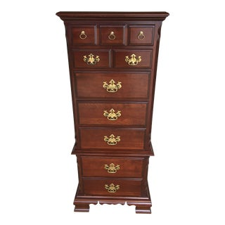 Pennsylvania House 7 Drawer Chippendale Style Solid Cherry Lingerie Chest For Sale