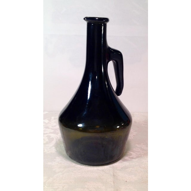 Green Vintage Italian Dark Green Wine Bottle For Sale - Image 8 of 8