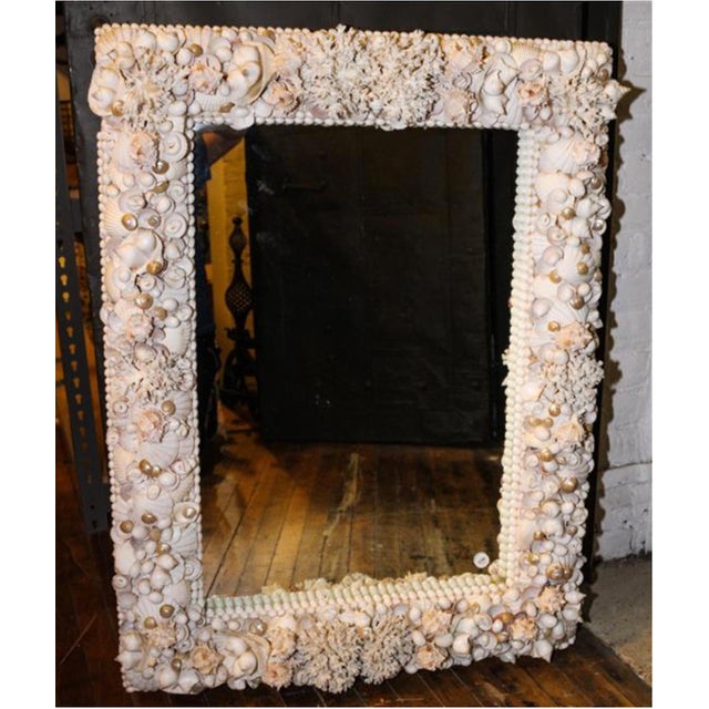 Exceptional Grotto Mirror, Great Attention Paid to Detail From a Promenate Florida Estate. For Sale - Image 11 of 11