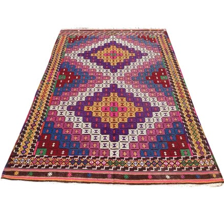 Vintage Turkish Kilim Rug - Image 1 of 6