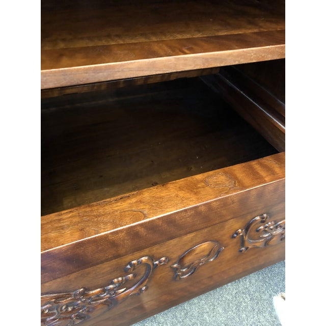 Asian Style Walnut Bar or Media Armoire For Sale In San Francisco - Image 6 of 13