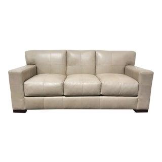RJones Leather Grid Sofa