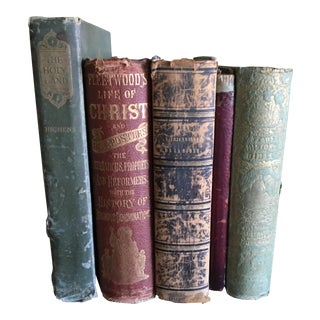 Religious Antique Book Collection - Set of 5