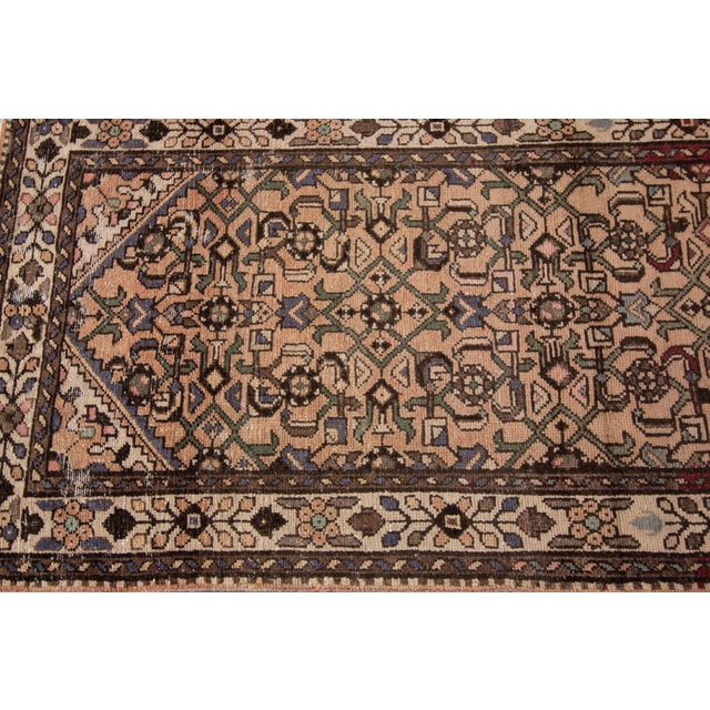 """Textile Vintage Persian Rug, 2'8"""" X 9'7"""" For Sale - Image 7 of 10"""