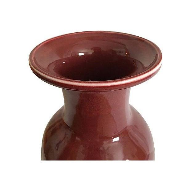 Maitland-Smith Oxblood Red Vase - Image 4 of 5