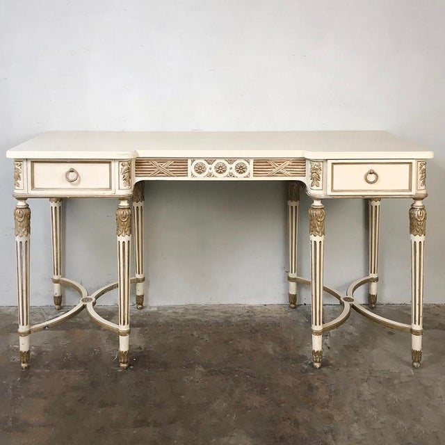 Antique Italian Neoclassical Painted Sofa Table ~ Vanity ~ Writing Desk For Sale - Image 13 of 13