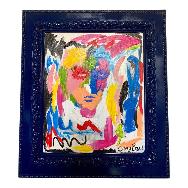 Ebony Boyd Framed Abstract Painting For Sale