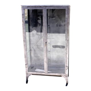 Vintage Metal Medical Cabinet For Sale