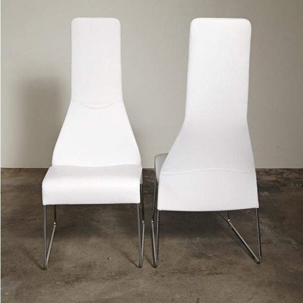 B&B Italia Lazy 05 High Back Dining Chairs - Pair - Image 3 of 4