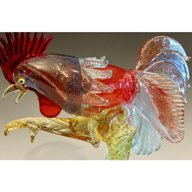 1950s Murano Italian Venetian Glass Rooster Figurine For Sale - Image 11 of 13