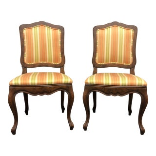 Baker French Country Style Dining Side Chairs - Pair 3 For Sale