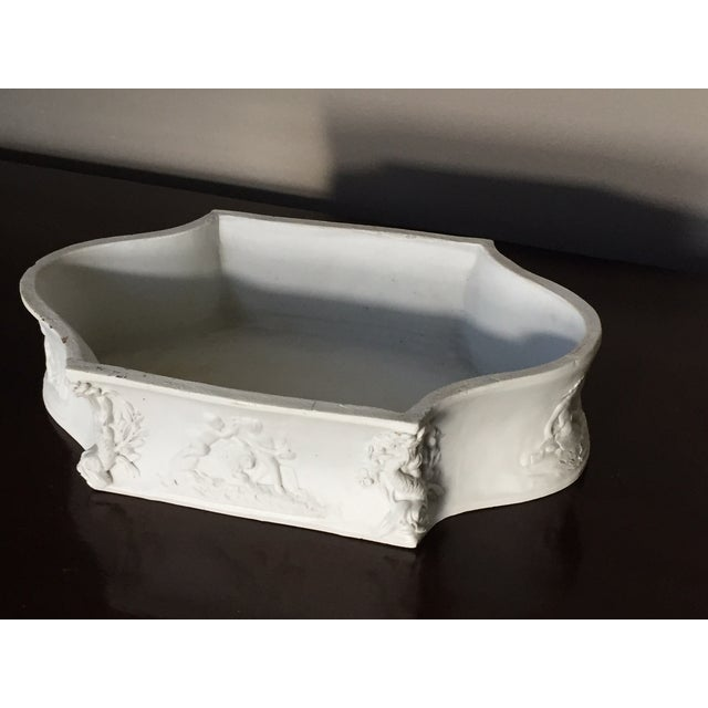 Rectangular White Bisque Floral Tray - Image 7 of 9