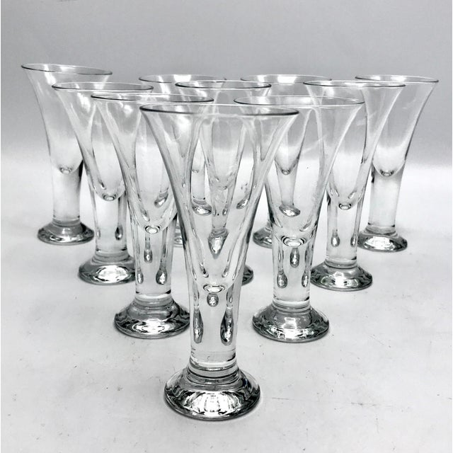 Vintage Blenko Blown Crystal Tavern Pattern Cordial or Shot Glasses - Set of 8 For Sale In New York - Image 6 of 6