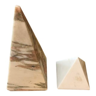 Marble Obelisks - Set of 2 For Sale
