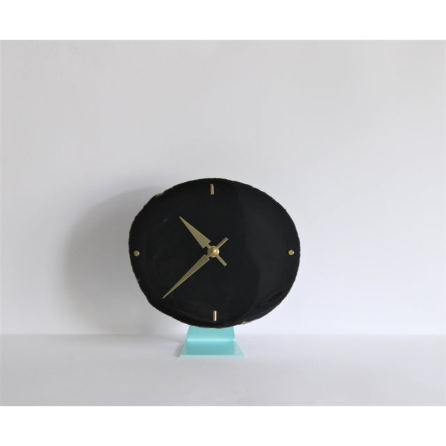 Agate Slice Black Desk Clock - Image 6 of 7