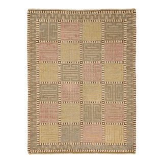 20th Century Swedish Pile Rug- 5′4″ × 7′1″ For Sale