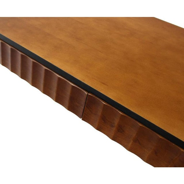 Modern Scallop Edge Desk or Writing Table For Sale In New York - Image 6 of 8