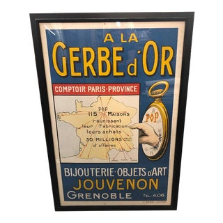 "Framed Vintage French ""A La Gerbe d'Or"" Poster For Sale"