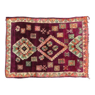 1980s Berber Moroccan Rug - 6′9″ × 9′2″ For Sale