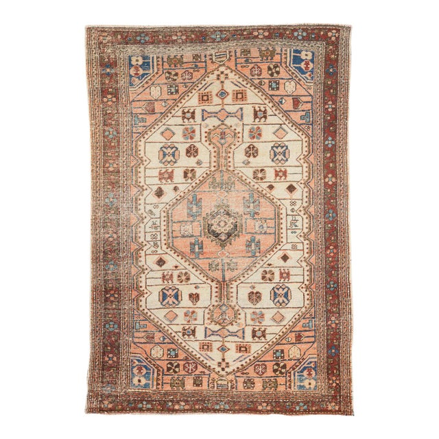 """Vintage Distressed Malayer Rug - 4'4"""" X 6'3"""" For Sale"""