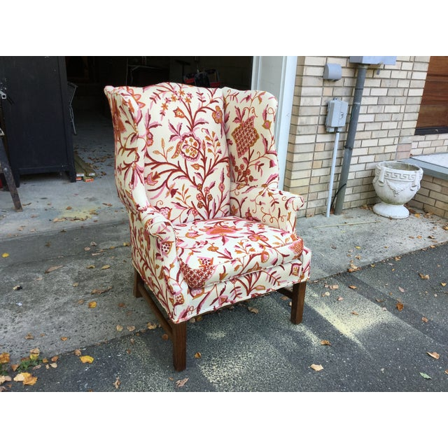 Vintage English Armchair W/Crewel For Sale - Image 4 of 10