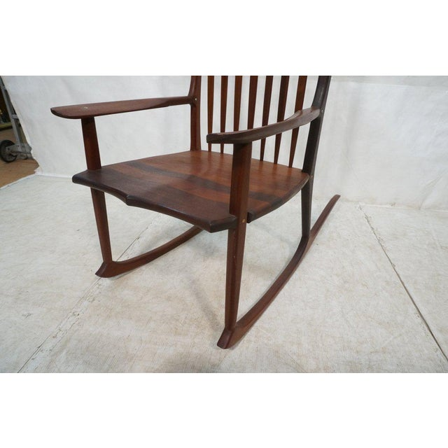 Tall Oversized American Craftsman Rocking Chair - Image 4 of 10