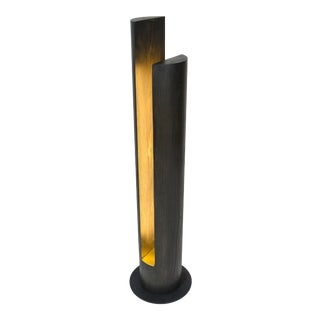Slot - Over-Sized Wooden Dowel Led Floor Lamp For Sale