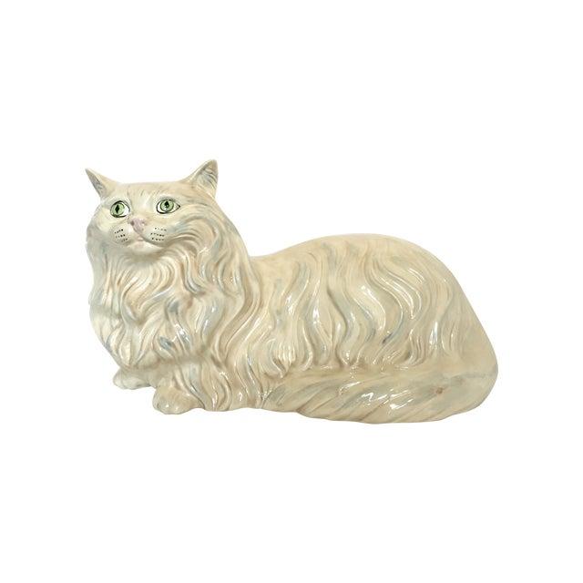 Vintage Ceramic Cat Statue - Image 1 of 6