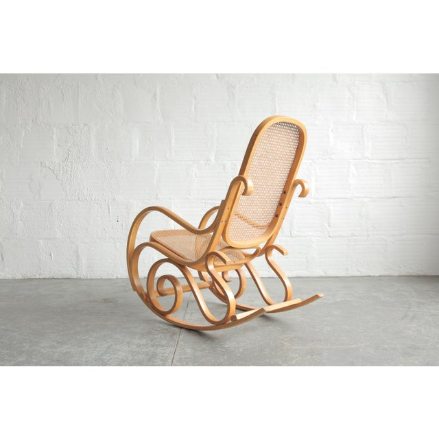 Late 20th Century Late 20th Century Vintage Rattan Rocking Chair For Sale - Image 5 of 6