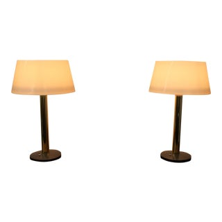 Mid-Century Modern Lightolier Lamps - A Pair For Sale