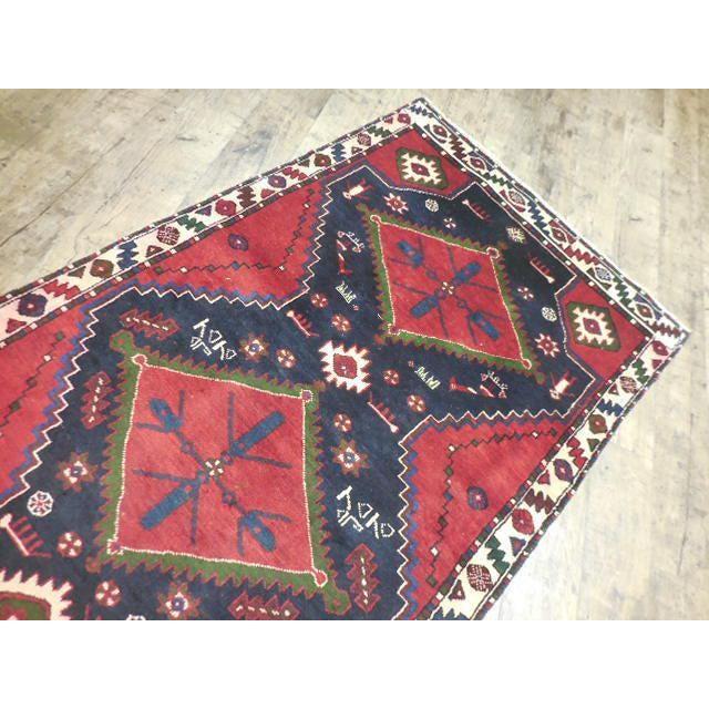 "Persian Tribal Kilim Runner - 3'5"" x 10'3"" For Sale - Image 5 of 6"