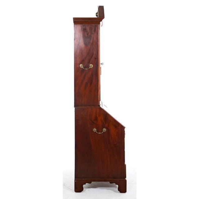 Georgian Mid 18th Century Georgian Secretaire Bookcase For Sale - Image 3 of 8