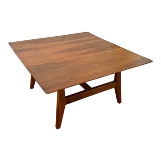 1950s Mid Century Modern Jens Risom Walnut Coffee Table For Sale