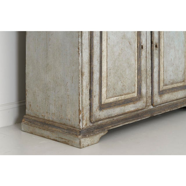 19th Century Italian Abruzzo Two-Door Buffet in Original Paint For Sale - Image 10 of 13