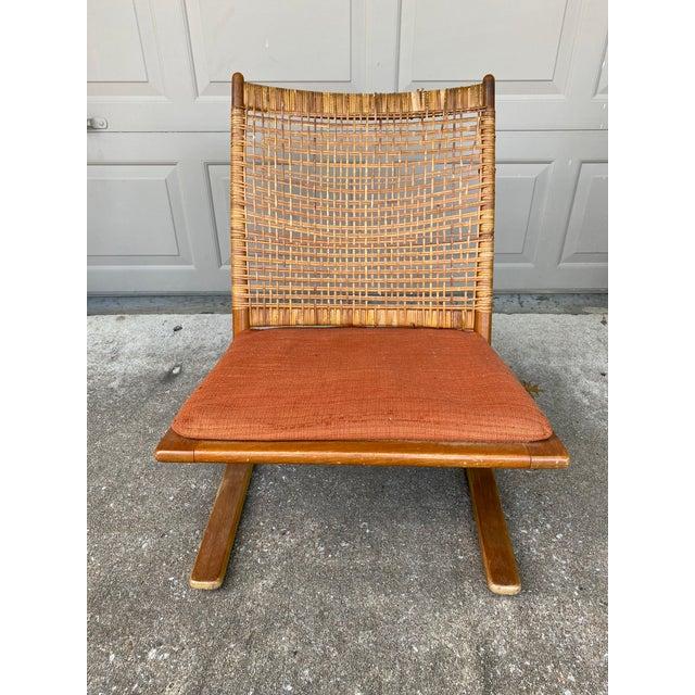 Mid-Century Modern 1950s Fredrik Kayser Rocking Chair For Sale - Image 3 of 6