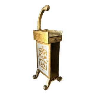 Vintage Florentine Reading Table Magazine Rack For Sale