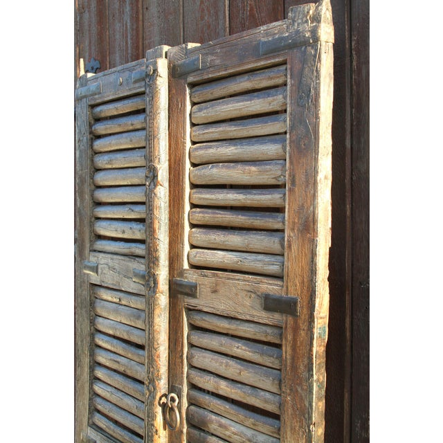 Brown Antique 19th Century Hungarian Doors For Sale - Image 8 of 9