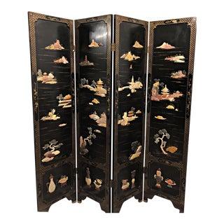 Vintage Carved Jade Chinese Screen