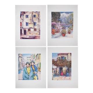 "Mortimer Menpes ""Venice"" Lithograph Prints - S/4"