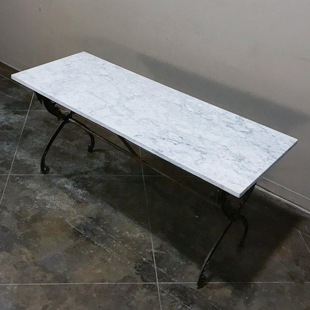 Late 19th Century 19th Century Wrought Iron Marble Top Confectioner's Table For Sale - Image 5 of 12