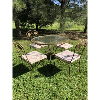 1950s Traditional Iron Dining Set- 5 Pieces Preview