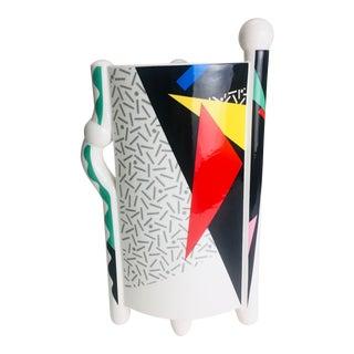 1980s PostModern Memphis Kato Kogei Fujimori Carnival Vase For Sale
