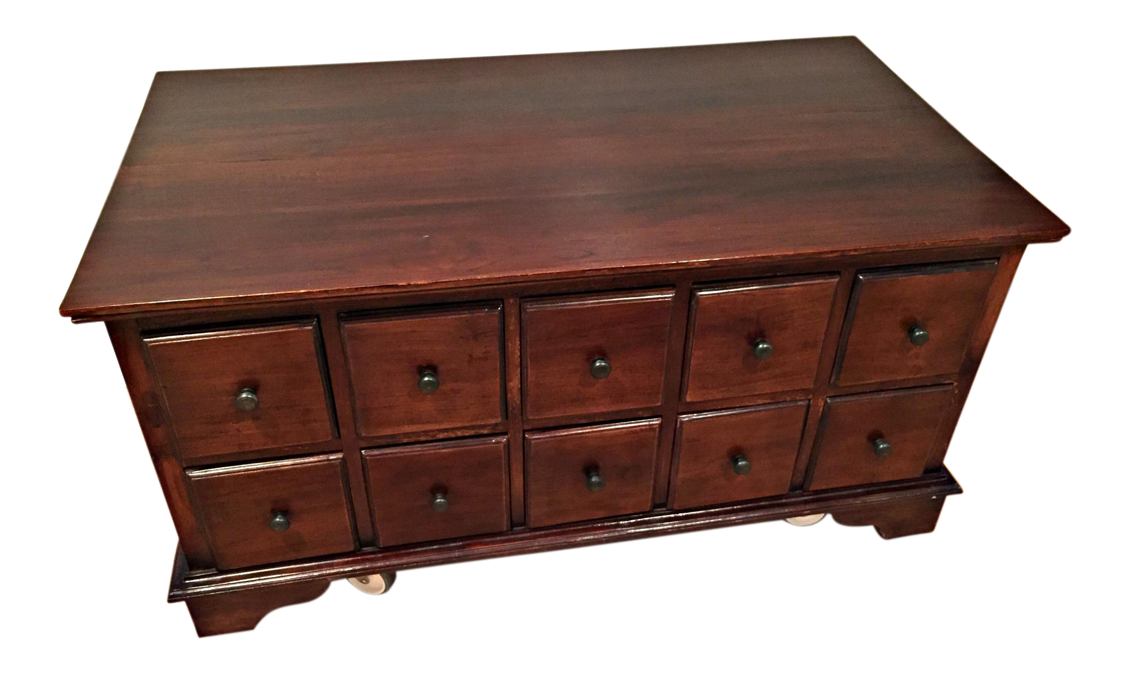 Charming 20 Drawer Apothecary Chest Coffee Table Chairish